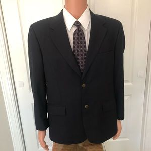 Club Room Sz 38S Navy 2 Button Blazer Sports Coat